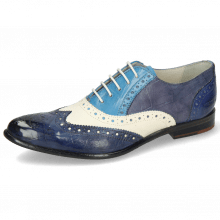 Oxford shoes Keira 10 Imola Turtle Navy White Mid Blue Avio