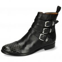 Ankle boots Selina 20 Pavia Black Rivets Sword Buckle