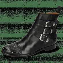 Ankle boots Selina 20 Pavia Black Rivets Sword Buckle