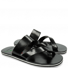 Sandals Sam 15 Black Embrodery Flower