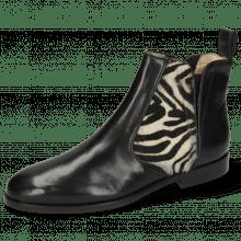 Ankle boots Susan 34 Black Hairon Zebra Elastic