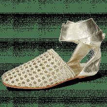 Sandals Melly 8 Mignon Platin Nappa Talca