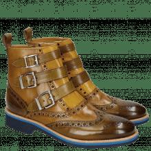 Ankle boots Amelie 65 Olive Fango Ocra Strap Olive Rook D Navy