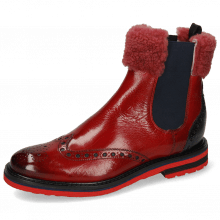 Ankle boots Amelie 63 Ruby Navy Collar Fur