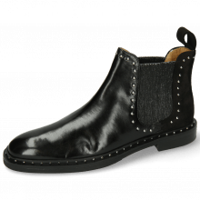 Ankle boots Susan 37 Black Nubuck Elastic Glitter