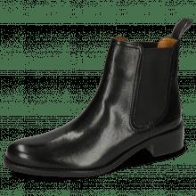 Ankle boots Xsara 1 Venice Black Elastic Black Rubber Navy