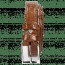 Belts Linda 1 Crock Mid Brown Classic Buckle