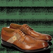 Derby shoes Eddy 25R Wood Strap Beige Embrodery