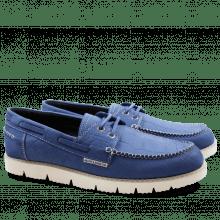 Loafers Jim 1 Nubuk Big Croco Blue Goya White