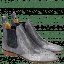 Ankle boots Jessy 4 Grafi Silver Blue Perfo Glicine