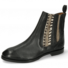 Ankle boots Lexi 2 Pisa Black Croco Hairon Stripes