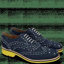 Oxford shoes Amelie 10 Denim Blue Underlay White
