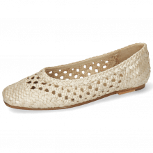 Ballet Pumps Melly 1 Open Weave Pearl