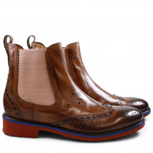 Ankle boots Amelie 50 Tan Elastic Rose Rook D Red