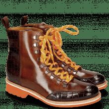 Ankle boots Amelie 71 Crock Mogano Wood Tongue Sherling Cognac