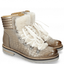 Ankle boots Bonnie 10 Crock Morning Grey Fur Off White