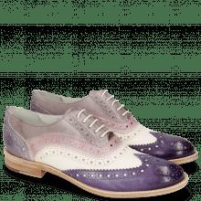 Oxford shoes Amelie 10 Vegas Violet White Light Purple Pale Lila