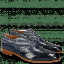 Oxford shoes Lewis 4 Navy Wind Textile Stripes Blue