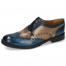 Oxford shoes Amelie 70 Guana Bluette Oxygen Phyton Wind