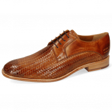 Derby shoes Eddy 8 Woven Haring Bone Tan