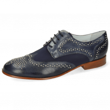 Derby shoes Sally 53 Venice Navy Lycra Navy