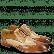 Derby shoes Jeff 14 Tan Nude Cashmere Nougat Olivine