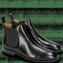 Ankle boots Susan 10 Black Elastic Black M&H Rubber Navy