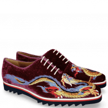 Oxford shoes Clark 25 Velluto Dark Purple Dragon