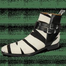 Ankle boots Elvis 45 Monza Black Hairon Wide Zebra