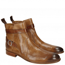 Ankle boots Henry 9 Classic Perfo Tortora Strap Wood