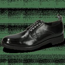 Derby shoes Eddy 54 Black Eyelets White Strap