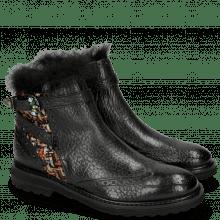 Ankle boots Amelie 67 Brazil Textile Blush Black