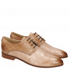 Derby shoes Jessy 5 Baby Croco Pale Rose