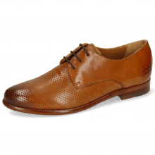Derby shoes Selina 23 Pavia Perfo Tan