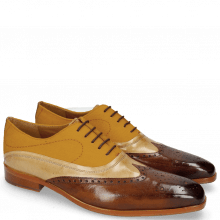 Oxford shoes Lewis 4  Wood Canvas Orange