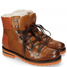 Ankle boots Bonnie 10 Crock Wood Winter Orange Full Fur