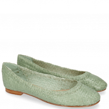 Ballet Pumps Kate 5 Woven Light Mint