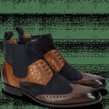 Ankle boots Rico 23 Rio Mogano Suede Pattini Navy Venice Crock Wood