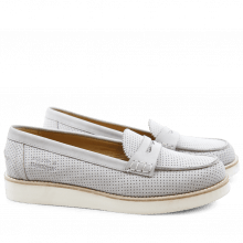 Loafers Bea 1 Elko Perfo Light Grey XL Malden White