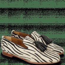Loafers Scarlett 20 Hairon Young Zebra Black Tassel