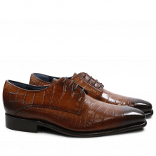 Derby shoes Stanley 2 Croco Tan LS