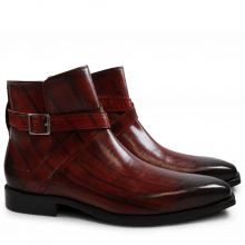 Ankle boots Nicolas 6 Red Shade & Lines Brown HRS