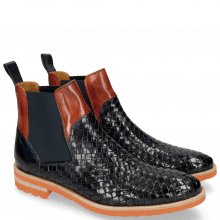 Ankle boots Brad 9 Woven Navy Orange Aspen Orange