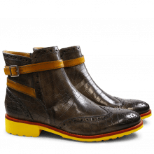 Ankle boots Amelie 11 Crock Stone Strap Yellow