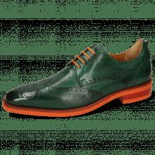 Derby shoes Dave 2 Monza Pine Laces Flat Orange