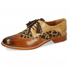 Derby shoes Betty 3 Tan Nude Hairon Leo Beige