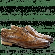Derby shoes Jessy 6 Baby Croco Tortora LS