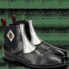 Ankle boots Elvis 55 Guana Black Nappa Aztek Silver