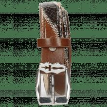 Belts Linda 2 Mid Brown Python Brown Sand Sword Buckle