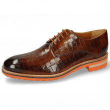 Derby shoes Tom 8 Crock Wood Aspen Orange